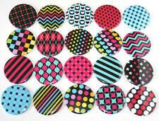Rainbow Pop Colour Patterns POCKET MIRRORS x20 Bulk Wholesale Lot resale markets
