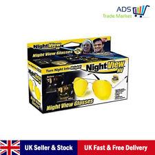 Vista de noche Gafas Gafas de noche conducción amarillo recubierto de Lente Amarillo Unisex