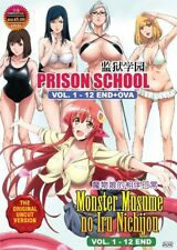 DVD Anime Uncensored Prison School + Monster Musume no Iru Nichijou English Sub