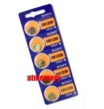 Sony CR1220 CR 1220 3V Coin Cell Button Battery x 5pcs Japan Genuine Exp.2027