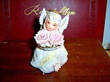 Lefton 3332 May Birthday Birthstone Flower Angel Girl Carnation