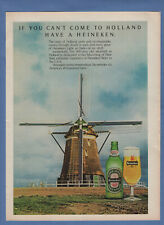 1977 Heineken Beer The Tast Of Holland Old Windmill Shown Vintage Print Ad S77