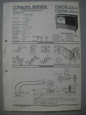 Philips FD877A Capella 877, FD975A Capella 975 Service Manual Ausgabe 09/57
