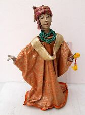 "VINTAGE 24 inch Handmade Thai ""Ramayana Epic"" Rod Puppet Lakshmana - FREE STAND"