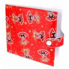 Lenticular Rare Vintage Cartoon Betty Boop 20 CD Case Wallet Red #BB-102-CD20#