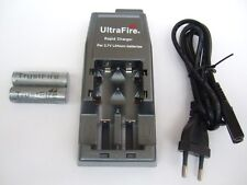 UltraFire CREE XML wf-139 cargador y 2x 14500 Batería iones de litio de 3,7 voltios 900 mah nuevo