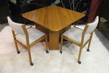 J.L. Moller Danish Teak Chairs &  BRDR Furbo Spottrup Drop-Leaf Table Near Mint
