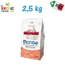 MONGE MINI ADULT SALMONE 2,5 KG CROCCHETTE CIBO SECCO ALIMENTO NATURALE PER CANE