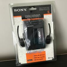 Sony Walkman FM/AM Cassette Player WM-F2015 AS NEW With Headphones #449