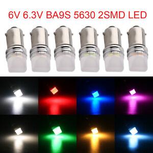 1000Pcs Customized 6V 6.3V DC T11 T4W BA9S H6W 3886X 1895 64111 5630 2SMD Light