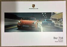 Porsche 718 Boxter Cayman brochure