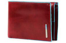 Portafoglio uomo portamonete | Piquadro Blue Square | PU257B2-Rosso