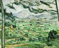 Mont Sainte-Victoire by Paul Cezanne Giclee Repro on Canvas