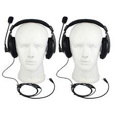 2p Retevis 2-Pin Headset Earpiece VOX For RETEVIS/KENWOOD/BAOFENG/TYTRadio