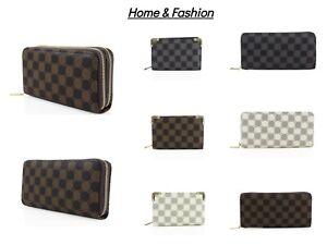 Women Designer Look Golden Tone Small Single Zip Double Zip Wallet Pouch Ladies