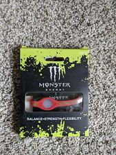 Power Balance Monster Energy Bracelet, Red, medium, New