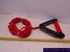 "Liquid Force Red and Black Surf Rope with 8"" Handle"