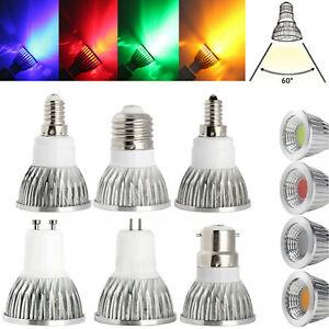 DC 12V Dimmable LED Spotlight COB Bulbs MR16 GU10 E27 B22 E12 6W 9W 12W Lamps