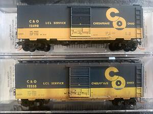 n scale weathered MTL 40' LCL service box car C&O chesapeake ohio 2RD# Runner