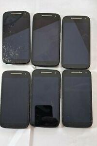 lot of (6) Motorola Moto E 2nd Gen *cracked glass* read