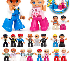 New assorted LEGO minifigures lot of 18 town city family people Mini Figure sets