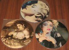 Madonna official Japan Promo Only 3 x Dummy instore Display picture disc Lp set