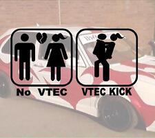 No vtec vtec Kick Bitch Hater JDM sticker autocollant ps power Fun like shocker