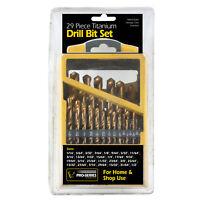 Pro-Series 29 Piece Titanium Drill Bit Set