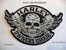 Harley Davidson  HOG  BRUST- o. ÄRMEL PATCH   NEU!