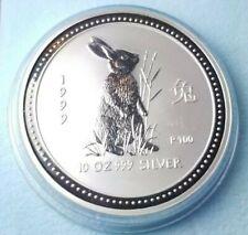 1999 Lunar Year of the Rabbit 10 oz .999 silver Coin!