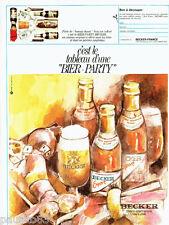 PUBLICITE ADVERTISING 026 1969   Becker  bière  Allemande Bier-Party