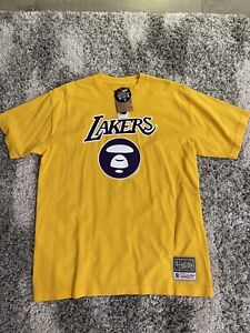 aape by a bathing ape lakers t shirt