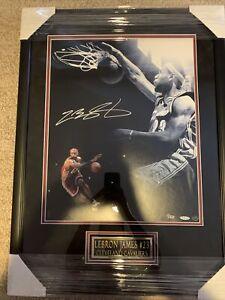 LeBron James Autographed 16x20 Photo Emotion Dunk Collage Upper Deck UDA 1/50