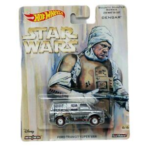 2017 Hot Wheels Star Wars (Pop Culture) 6/6 Dengar Ford Transit Super Van NIP