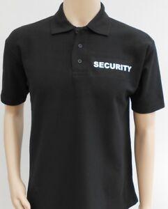 SECURITY POLO SHIRT Work wear Doorman Bouncer Uniform Bodyguard T-shirt to 4XL