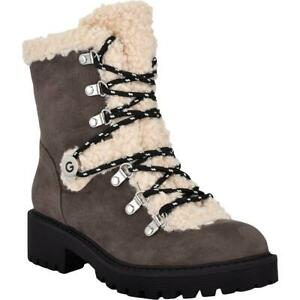 G by Guess Womens Sherry 2 Faux Fur Lug Sole Winter Boots Shoes BHFO 7925
