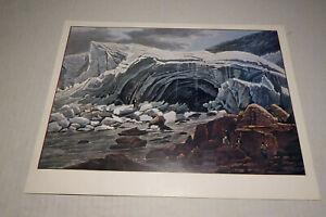 Druck nach Gemälde Grotte de L`arveyron Chamoumix 1820