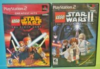 Lego Star Wars 1 + 2 I II Trilogy -  PS2 Playstation 2 Tested Complete Game Lot