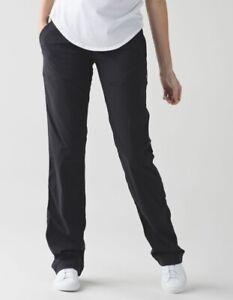 NICE🍀LULULEMON sz 4 Dance Studio Pants Linerless Cinch Hem - Black EUC
