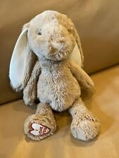 "Manhattan Toy I Love You Bunny TAUPE Gray Brown 12"" Plush Stuffed Animal 2016"