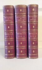 history of india vintage leather covered  3 volume setvery