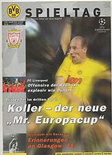 Orig. PRG Ligue des Champions 01/02 Borussia Dortmund-FC LIVERPOOL! RARE