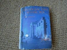 Sensational Tales of Mystery Men by Will Goldston, Signed 1929 1st impression,