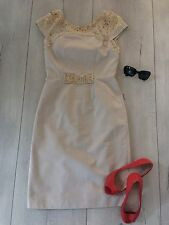 Fenn Wright Mason Studio Uk10 M Dress Nude Cream Pencil Fitted Straight £129