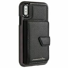 NEW! Case-Mate iPhone X Case - Compact Mirror - Black - Holds 4 Cards OEM