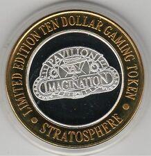 1996 Stratosphere Pavilion of Imagination .999 Fine Silver $10 Casino Token