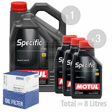 Engine Oil and Filter Service Kit 8 LITRES Motul Specific 0720 5W-30 8L