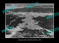 OLD POSTCARD SIZE PHOTO DAMASCUS SYRIA, AERIAL VIEW OF THE CITY c1919 2
