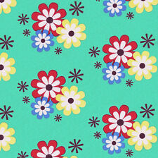Michael Miller FLOWER FROLIC Floral Flowery Atomic Star Fabric - Sprout