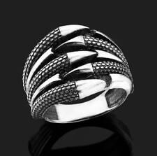 Bague Chevalière Homme Argent massif 925 Griffes de Dragon Sterling Silver Ring